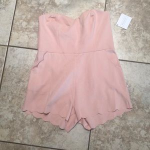 BWT Baby pink scalloped jumper